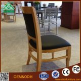 European Style Hotel Tissu d'ameublement en bois Soft Lounge Dining Chairs