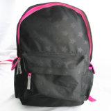 学校のバックパックに戻る星プリント黒