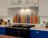 Tempered покрашенный стеклянный выплеск назад для кухни