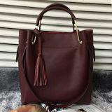 2017 borse del cuoio genuino dei sacchetti delle signore della maniglia del metallo con la nappa Emg4800