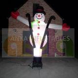 De openlucht Opblaasbare Lichte Danser van de Lucht van de Sneeuwman van Kerstmis voor Viering