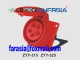 Connecteur industriel 16A IP44 Ce Certificated 5p pour montage mural ZYY-415