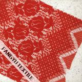 Tessuto germogliante del merletto della guarnizione del fiore per il vestito