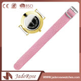 Montre rose simple de sport de Digitals de dames d'acier inoxydable