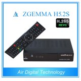 Близнец DVB S/S2 Zgemma H5.2s дешифратора H. 265 TV сердечника Bcm73625 нового продукта двойной