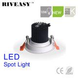 10W円形のAliuminumの穂軸白いLED Downlight LEDの照明LEDスポットライト