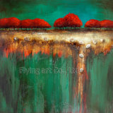 Pintura al óleo abstracta de acrílico