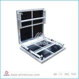 알루미늄 이동할 수 있는 접히는 단계, 단단하게 한 유리제 단계