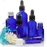 botellas de cristal del cuentagotas E del Cig azul de 10ml con el casquillo de aluminio del cuentagotas