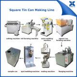 Maquinaria retangular da fabricação da lata de estanho do metal do petróleo verde-oliva