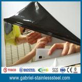 Espejo del grado de AISI 304 que pule el metal de hoja de acero 0.5m m grueso inoxidable