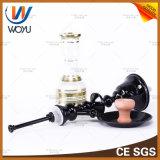 La cachimba árabe Tubos Estilo de soldadura de la calabaza de agua galvanoplastia proceso de ahumado de carbón Shisha Pipe Tubo de silicona Negro de humo del tubo de agua Tazón cachimba