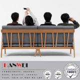 Sofa en bois de noix de chêne de hêtre de sofa de meubles réglés modernes de salle de séjour