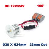 mini lampe de l'ÉPI DEL de lumière de Module d'ampoule de 3W 12V 24V