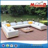 Conjunto moderno de sofá de tecido de pátio ao ar livre