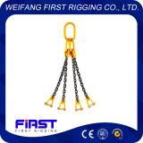 チェーン吊り鎖を持ち上げる高力4本の足