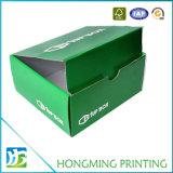 Cartão de dobramento barato impresso logotipo da caixa de sapata