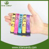 Vente de bracelet de dons d'événements d'impression de logo de sublimation