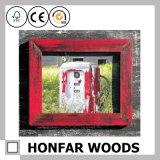 Het rustieke Rode Stevige Houten Frame van de Foto van het Beeld voor de Decoratie van het Huis