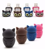 Cartoon Owl USB Flash Drive Mémoire Flash PVC 8 ​​Go USB sur Key