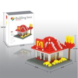 Kit 14889314-Micro Bloque temático restaurante Serie módulos previstos educativo creativo de bricolaje juguete 280pcs