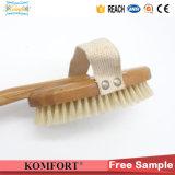 Естественный хряк Bristles сухая щетка СПЫ скруббера задней части бамбука тела для кожи