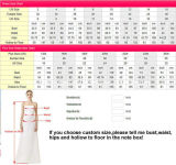 Robes nuptiales florales 3/4 chemise perlant la robe de mariage Backless Tb209