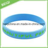 Bande de poignet promotionnelle faite sur commande, bracelet réglable de silicium, bracelet promotionnel de silicium