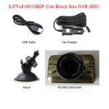 Boîte noire véhicule en alliage de zinc neuf de 3.0inch de plein HD1080p avec l'appareil-photo du véhicule 2CH, Rearview, cornière de la vue 170degree, HDMI, Poids du commerce-à l'extérieur véhicule DVR-3007