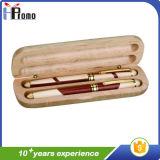 Boîte à stylo en bambou cadeau promotionnel avec stylo