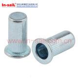 Cabeça de flange plana Brass Customized Knitled Body Blind Rivet Nut