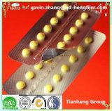 Película rígida do PVC da laminação plástica desobstruída para a embalagem da droga