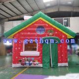 Aufblasbares rotes Haus für Weihnachtsfestival-Dekoration/Weihnachtsaufblasbares Prahler-Haus