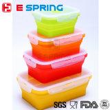 Os recipientes de armazenamento Stackable BPA do alimento livram a caixa de almoço do silicone