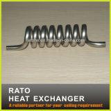Cambista de calor helicoidal personalizado da bobina