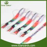 Le prix bas a personnalisé le bracelet réflexe de mode de modèle de tissu