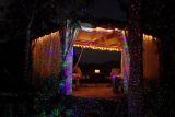 Im Freienweihnachtslaserlicht, arbeiten dekoratives Baum-Licht, Meteor-Dusche-Laserlicht im Garten