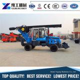 トラックによって取付けられるねじ掘削機の杭打ち機の構築機械装置