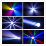 Indicatore luminoso capo mobile del fascio con il video caldo di effetto nella decorazione in tensione di dramma di Facebook