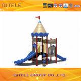 Verwendetes galvanisiertes Pfosten-bunte Kind-im Freienspielplatz-Gerät