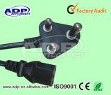 Треска силы компьютера 2 AC Pin/3plug Европ/Южной Африки для кабеля портативного компьютера