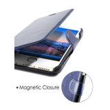 Caixa ultra magro do couro da carteira do plutônio da ranhura para cartão para iPhone6s