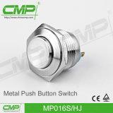Interruptor de botão de aço inoxidável leve de 16mm (MP016S / FJ)