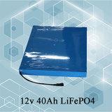 Bateria solar da rua da bateria de íon de lítio do bloco da bateria da bateria VRLA do UPS Ubetter 12V 40ah LiFePO4