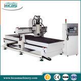 Linha de produção máquina de cinzeladura de madeira da mobília do router do CNC para a venda
