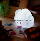 かわいい微笑の雲LEDの電球ランプ夜ライト