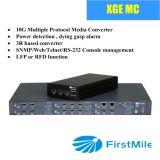 Convertidor óptico de los media de fibra del grado 10ge del portador