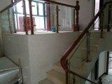 Поручень стекла нержавеющей стали китайского и американского типа крытый деревянный