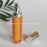 bouteille 15/50ml cosmétique acrylique orange avec la pompe de lotion (PPC-NEW-095)