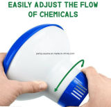 "Distribuidor químico dobrável para 3 "" tabuletas, alimentador químico do equipamento da piscina"